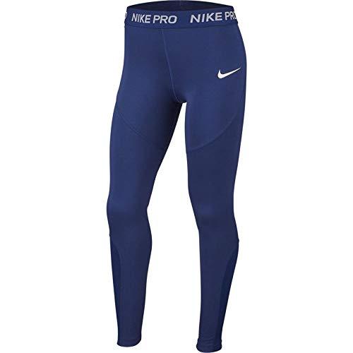 Nike Mädchen G NK TGHT Train Studio PKT Netze, blau/weiß (Blue Void/White), M