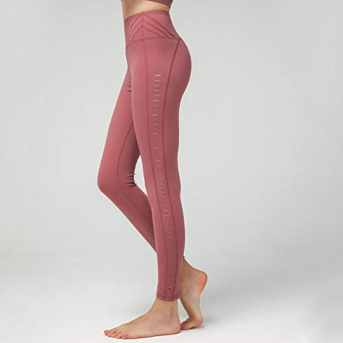 Dames Sport Panty & Leggings sport panty Side Yoga Naakt Dubbelzijdig Hollow Out Broek Dames Broek Skinny Geborsteld Broek Vrouwen Taille Raise Donker Groen S