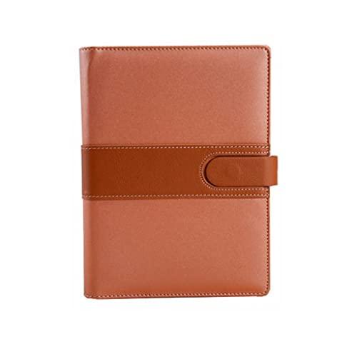 ZANZAN Cuadernos de Notas Cuaderno Engrosado Hebilla Magnética Cuaderno De Hojas Sueltas Diario Portátil Escuela En Casa (90 Hojas / 180 Páginas) blocs de Notas (Color : Brown)