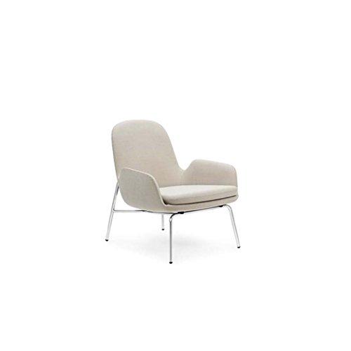 Normann Copenhagen Era lounge stoel stalen frame H x B x T: 77 x 72 x 72cm Donkerrode stof Breeze Fusion 4401/frame staal S