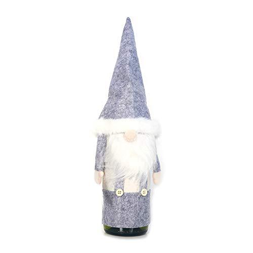 JIACUO Kerstmis Zweedse Gnome Rode Wijn Fles Cap Meisje Kerstman Hoed Cover Faceless Pop Home Decoratie