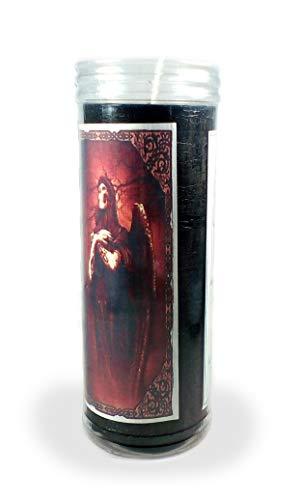 Velón esotérico Santa Muerte Negra- Tamaño 14 x 5,5 cm- Vela para Alejar a Personas no deseadas