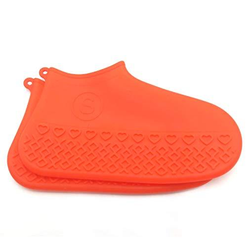 JUNCHUANG Silikon-Schuhüberzug, wiederverwendbar, wasserdicht, faltbar, für Radfahren, Outdoor-Schuhüberzieher für Kinder, Damen, Herren