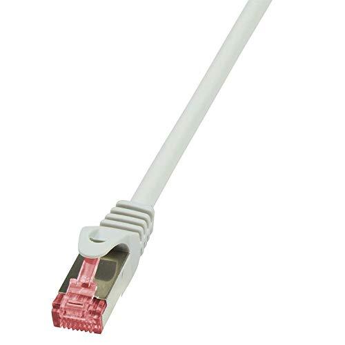 Preisvergleich Produktbild LogiLink CQ2012S CAT6 S / FTP Patch Kabel PrimeLine AWG27 PIMF LSZH grau 0, 25m