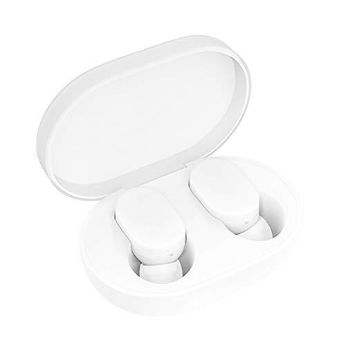 Xiaomi Mi Airdots Auriculares Inalámbricos Bluetooth 5.0 - Conexión Automática Binaural (Estéreo) 12h Reducción de Sonido Botones Táctiles Cargador Portátil Certificado CE (iOS & Android) Blanco