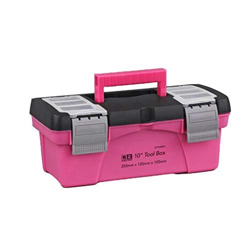 VANKOA 10 12,5 Zoll Tragbarer Werkzeugkasten Kunststoffspeicher Pink Lady Inner Layer Toolbox - 10 Zoll