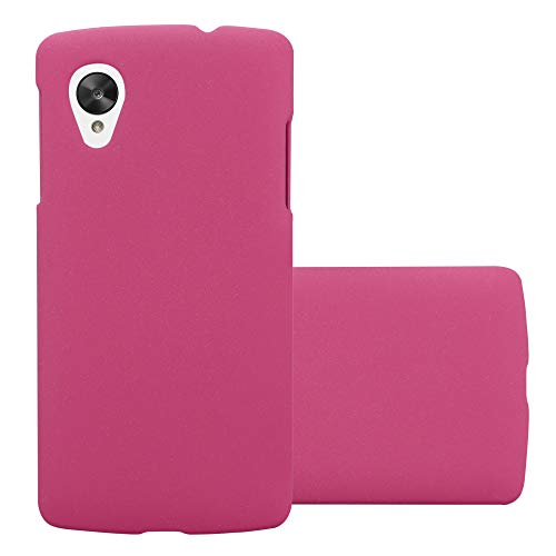 Cadorabo Funda para LG Nexus 5 en Frosty Rosa - Cubierta Protección de Plástico Duro Super Delgada e Inflexible con Antichoque - Case Cover Carcasa Protectora Ligera