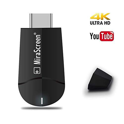 Mirascreen Wireless Display Adapter, SmartSee WiFi HDMI Converter Dual Core H.265/HEVC Decode HDTV Stick Support 4K/1080P Resolution Miracast Airplay DLNA No Need Modes Switching (Upgraded 2.4G)