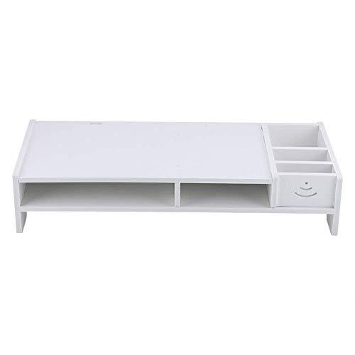 JY&WIN Computer Monitor Stand Multi-Function Laptop Stand Desk PC TV Desktop Screen Riser with Storage Organizer Shelf
