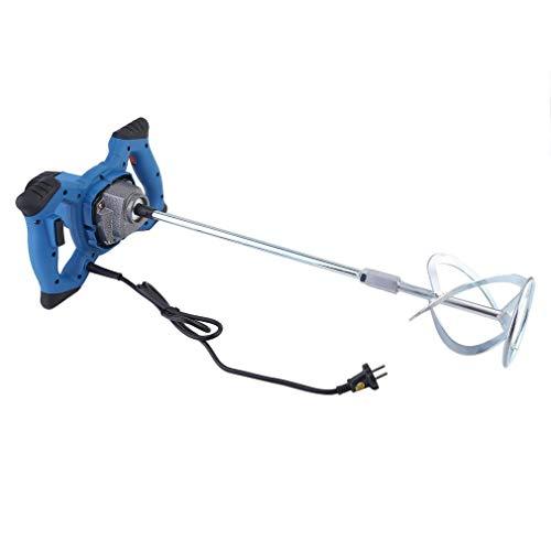 Homgrace 1600W Mezclador Batidor para Pintura Mortero con Agitador, 220V Azul (1 X Varilla Mezcladora(Azul))
