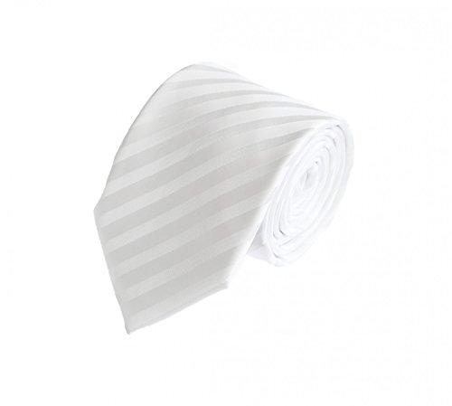 Krawatte weiß gestreift von Fabio Farini