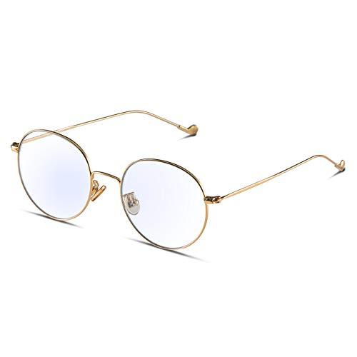 M'S 純粋なチタン超軽量アンチブルーライトグラス PCメガネ ゲーミングメガネ 放射線保護 UV保護 和らげ 防ぐ有害な青色光 男女兼用
