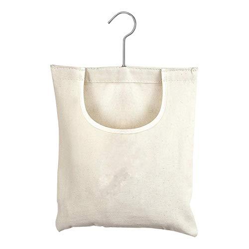 ORETG45 Bolsa de lona reutilizable para colgar ropa, organizador de almacenamiento de lona, bolsa de tendedero de acero, gancho de tela Oxford, bolsa para ropa de lavandería