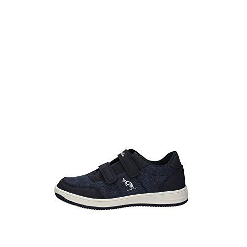 Australian Kinder Sneakers Navy, doppelter Velcro, Tele, Casual Junior AU877, Blau - Marineblau - Größe: 32 EU