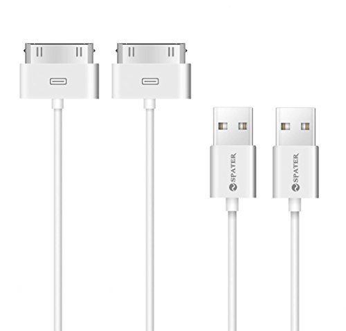 iPhone 4s Cable, 30-Pin USB Sync and Charging Data Cable for iPhone 4/4S/3G/3GS, iPad 1/2/3, and iPod (5/1.5 Meter) - Pack of 2