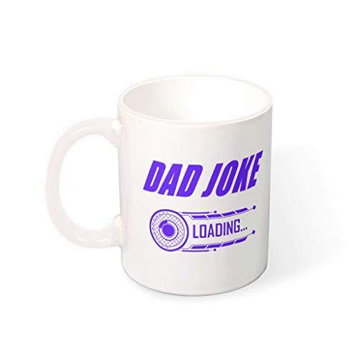 XJJ88 Tazas de carga de broma con asa de cerámica suave para papá – Divertido regalo de Papá Noel, 330 ml, color blanco