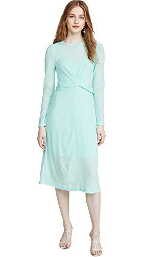 The Fifth Label Women's Own Light Long Sleeve Midi Dress, Mint, Green, Blue, Large