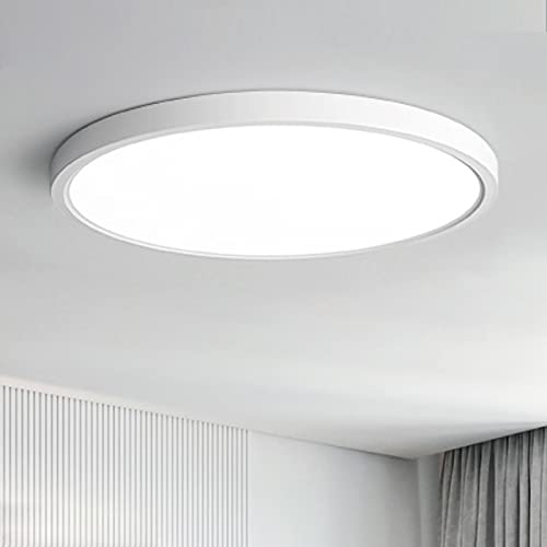 Anten Lámpara LED de techo   24 W, blanco neutro 4000 K, redonda, diámetro 30 x 2,4 cm, lámparas de techo para salón, habitación de los niños, dormitorio, cocina, oficina, sótano, pasillo, etc.