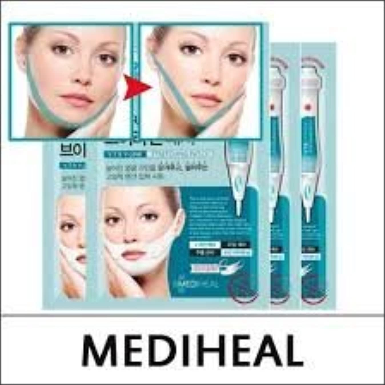 ピーブ全能個性MEDIHEAL VTR V Stretching Patch 20mlX4pcs/A.R.P Neck Patch/100% Authentic Korea Cosmetic (VTR V-Line Stretching Patch) [並行輸入品]