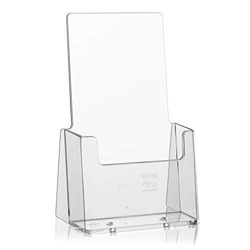 taymar® DIN lang (105×210mm) Flyerhalter/Prospekthalter/Prospektständer, Transparent (C110)