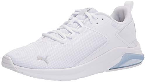 PUMA Men's Electron E Sneaker, White-Gray Violet, 12