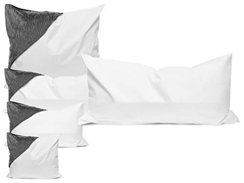 Allergendichte Kissen-Zwischenbezüge - wirksam gegen Milben, Bakterien und Pilze - verbinden optimal Allergieschutz und hohen Schlafkomfort - erhältlich in 4 verschiedenen Größen, 40 cm x 80 cm