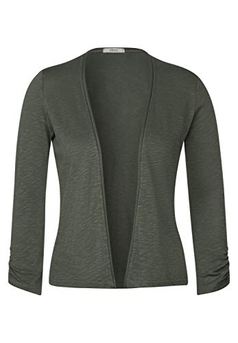 Cecil Damen 314841 T-Shirtjacket Strickjacke, Simply Khaki, X-Large