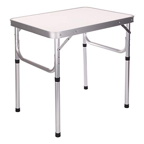 KingSaid Aluminium Folding Camping Picnic Table Adjustable Height Garden Table for Outdoor Indoor Party
