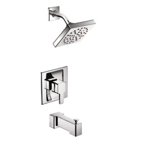 Moen TS2713EP 90 Degree Single Handle Tub and Shower Trim with Eco-Performance Showerhead, Chrome