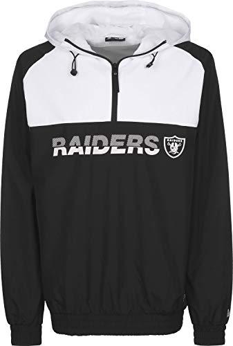 New Era Colour Block Windbreaker Herren Oakland Raiders Schwarz Weiß, Größe:L
