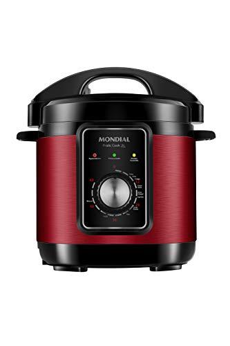 Panela de Pressão Elétrica Mondial, Pratic Cook 3L, 127V, Vermelho, 3L, 700W - PE-47-3L-RI