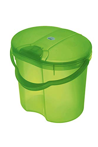 Rotho Babydesign - Poubelle 4L - TOP, Translucent Lime (Vert), 200060258