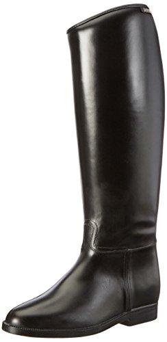 HKM Reitstiefel -Damen- lang & weit mit Elastikeinsatz, schwarz, 37