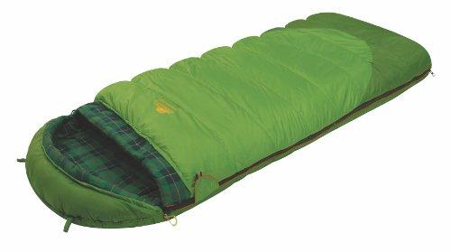 ALEXIKA Unisex-Adult Schlafsack Siberia Plus, rechte Reißverschluss Deckenschlafsack, grün/kariertes grün