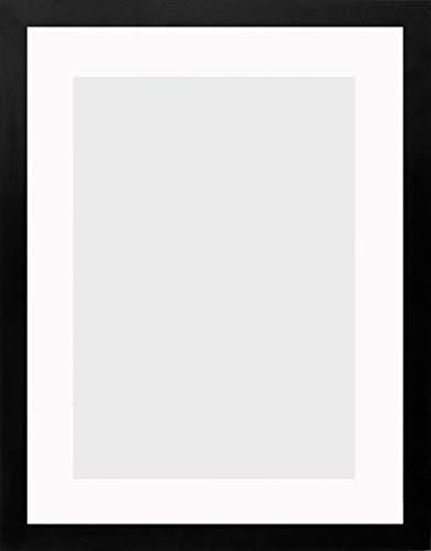 Bilderrahmen Morena 40 x 55 cm mit Passepartout passend für Bild 30 x 45 cm Rahmenfarbe: Schwarz Matt,Passepartoutfarbe: Ultra Weiß.Geeignet für Kunstdrucke,Poster und mehr.Maßanfertigung möglich.