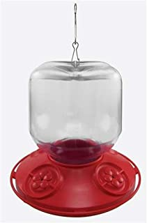 Songbird Essentials SE6025 Dr. JB's Complete Switchable 32 oz Feeder with Red Flowers (Bulk) (Set of 1)