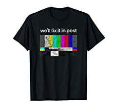 Fix it in Post t-shirt for the filmmaker and the crew member or screenwriter who hears this all the time on set or in the editing room. Distressed Vintage Design. Film maker t-shirt, Indie Film tee. Best gift for your favorite film, tv student or for...