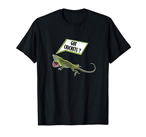 Got Crickets Grüne Anolis Geschenk Reptil Anole Eidechse T-Shirt