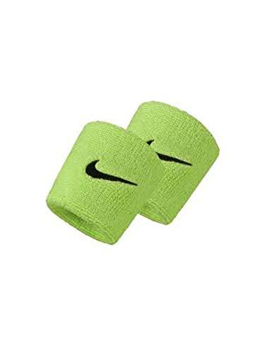 Nike POLSINI BASSI SWOOSH WRISTBANDS Verde limone, Taglia unica