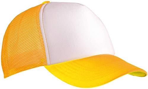 Myrtle Beach - Gorra de malla 'Classic' / blanco/amarillo neón, talla única,...