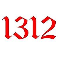 車とオートバイ 興味深いビニールポスト花ナンバー1312車のステッカートラックバンパーリアウィウサイターステッカーブラック/銀/赤/黄色/青/色/色(20 * 8.7cm) (Color : 3, Size : 30x13 cm)