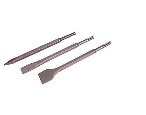 Silverline 515779 Cinceles Hexagonales SDS Plus, 250 mm-20.40 mm, 3 Piezas