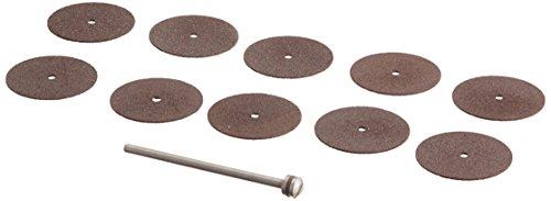 Proxxon 28810 - Set di dischi da taglio 22 mm, 10 pezzi + supporto, colore: Grigio