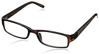 Glasses, Foster Grant NS0716 Derick BRN +1.25 Men's Reading Glasses with Case, Sold as Each