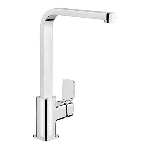 baliv KI-1080 Küchenarmatur verchromt | Schwenkbarer Wasserhahn mit hohem Auslauf für mehr Platz und Bewegungsfreiheit beim Spülen