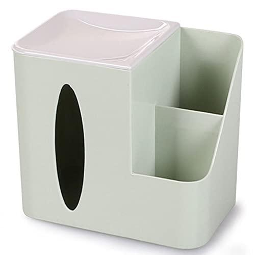 Caja de Tejido Multifuncional Caja de Estar Creativa Control Remoto Control Remoto Caja de Almacenamiento Tabla de café Tenedor de servilleta Decoración del hogar,Verde