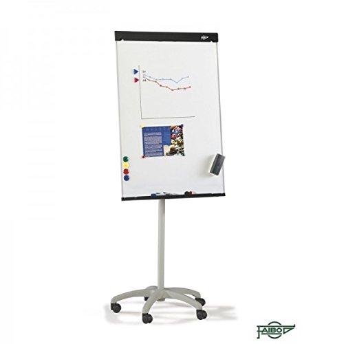 Pizarra blanca lacada de caballete magnética Faibo 70x105cm