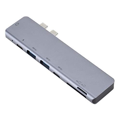 TEEKOO 7-in-1-Typ-C-Hub-zu-HDMI-USB-C-Hub-Kartenleser, Laptop-Dockingstationen für MacBook Pro für den Heimgebrauch