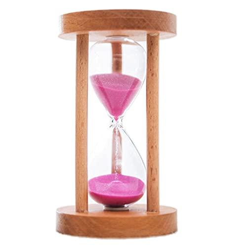 sharprepublic Temporizador de Arena de Madera Reloj de Arena 6/8/12/20/25 Mins Mins Sandglass Temporizador para El Aula, Cocina, Juegos, Temporizador de de - Rosa 6min, Tal como se Describe