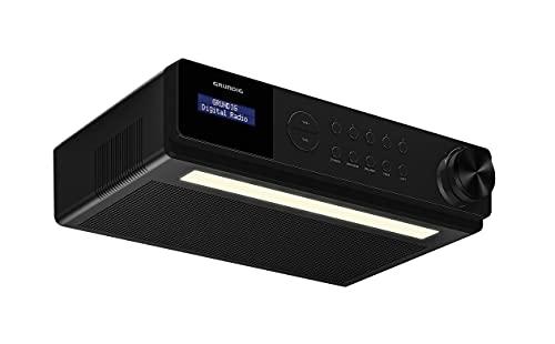 Grundig DKR 1000BT DAB + Küchenradio mit Bluetooth und DAB + Empfang Schwarz